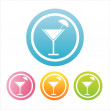 Colorful cocktail signs — Stock Vector #6178262