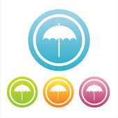 Colorful umbrella signs — Stock Vector
