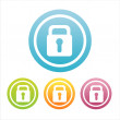 Colorful lock signs — Stock Vector
