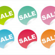 Colorful sale stickers - Stock Vector
