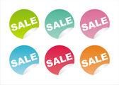 Colorful sale stickers — Cтоковый вектор