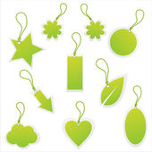 Green tags — Stock Vector