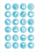 Web blue signs — Stock Vector