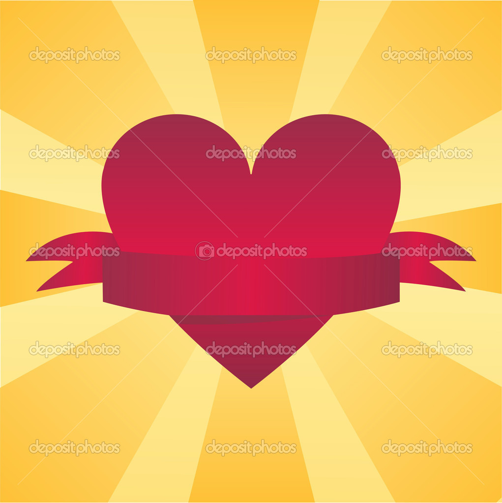 St. valentine's background with heart — Stock Vector #6203001