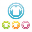 Colorful t shirt signs — Imagen vectorial