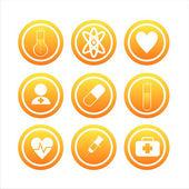 Orange medical signs — Stock Vector