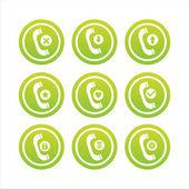 Zelený telefon značky — Stock vektor