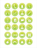 Web green signs — Stock Vector