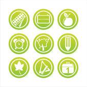 Signos de escuela verde — Vector de stock