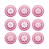 Pink flower signs — Stock Vector