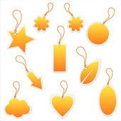 Orange tags — Stock Vector