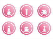 Pink chemical signs — Stock Vector