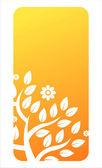 Orange floral banner — Stock Vector