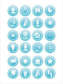 青の異なった印 — ストックベクタ