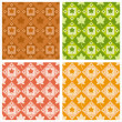 Cute autumn patterns — Stock Vector