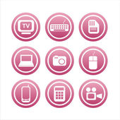 Pink technology signs — Stock Vector