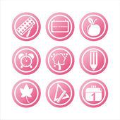 Pink school signs — Stock Vector