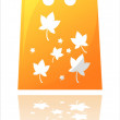 Autumn shopping bag - Stock Vector