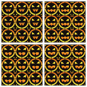Scary halloween patterns — Stock Vector