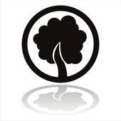 Black tree sign — Stock Vector