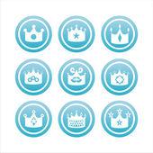 Indicazioni di corona blu — Vettoriale Stock
