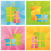 Colorful presents backgrounds — Stock Vector