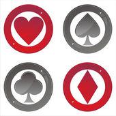 Glossy casino signs — Stock Vector