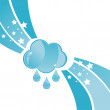 Rainy cloud background - Stock Vector