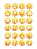 Orange web signs — Stock Vector