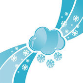 Cloud with snowflakes background — Vettoriale Stock