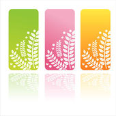 Colorful floral banners — Stock Vector