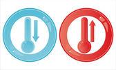 光泽温度计迹象 — 图库矢量图片