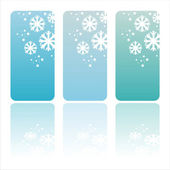 Glossy winter banners — Stock Vector