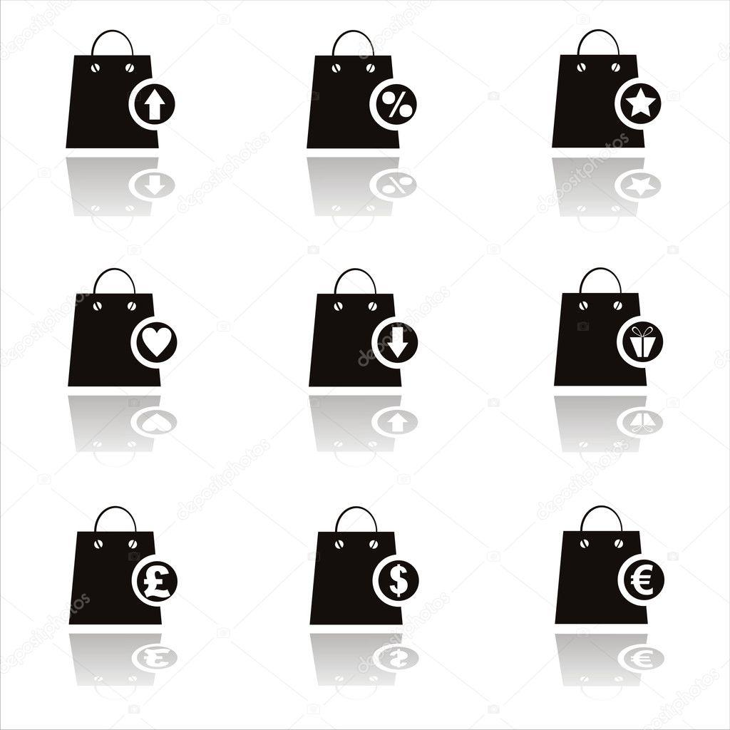 Google White Shopping Bag Icon