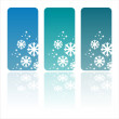 Winter banners with snowflakes - Stock Vector