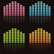 Colorful musical equalizers — Stock Vector