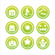 Green halloween signs - Stock Vector