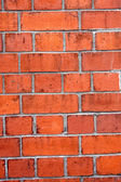 红砖墙壁 — 图库照片