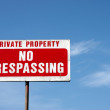 图库照片: Private Property