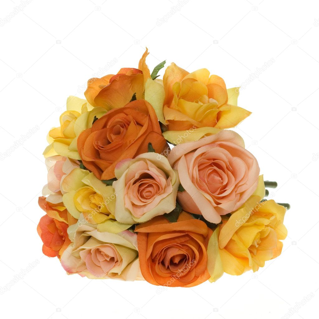 Maids Carry A Mix Of Jewel Toned Flowers Purple Vanda Orchids Yellow Orange And Magenta Roses Hydrangea Held Together With Cuff Green