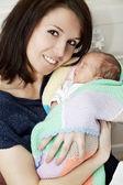 Mum and the premature baby — Stock Photo