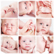 Baby face collage — Stock Photo