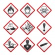 Stock Vector: New safety symbols