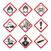 New safety symbols — Vettoriale Stock