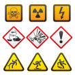 Warning symbols - Hazard Signs-First set — Stock Vector #5617428
