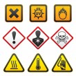 Royalty-Free Stock Vector Image: Warning symbols - Hazard Signs-Forth set