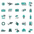 Royalty-Free Stock Vector Image: Signs. Vacation, Travel & Recreation. First set icons