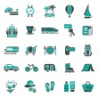 Stock Vector: Signs. Vacation, Travel & Recreation. Second set icons