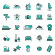 Signs. Vacation, Travel & Recreation. Third set icons - Stock Vector