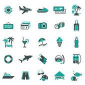 Signs. Vacation, Travel & Recreation. First set icons — Stock Vector